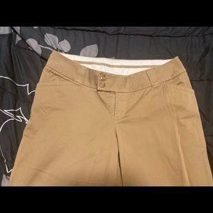 Lane Bryant tan khaki straight leg pants
